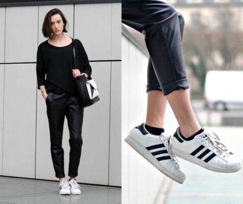Phối đồ với giày Adidas superstar 3