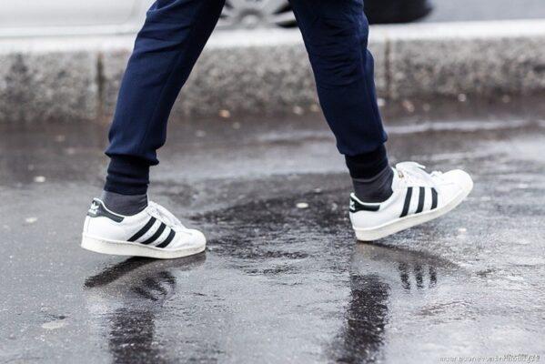 Phối đồ với Adidas superstar