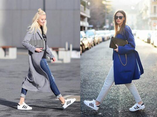 Phối đồ với giày Adidas superstar 10