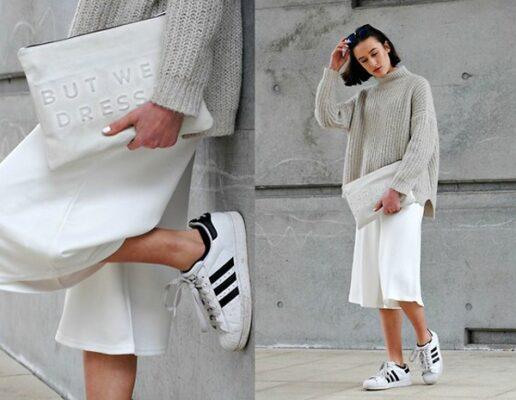 Phối đồ với giày Adidas superstar 8