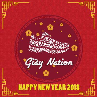 Giày Nation logo tết 2018