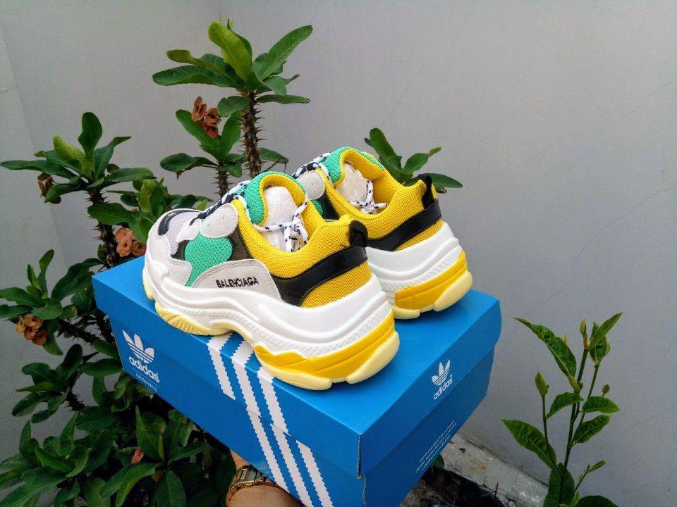 giày balenciaga triple s trắng 1