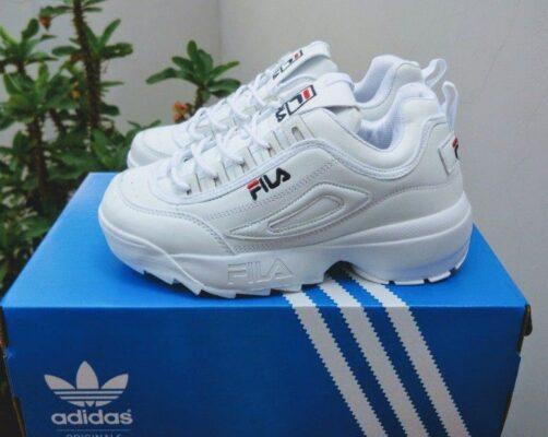 giày fila trắng full