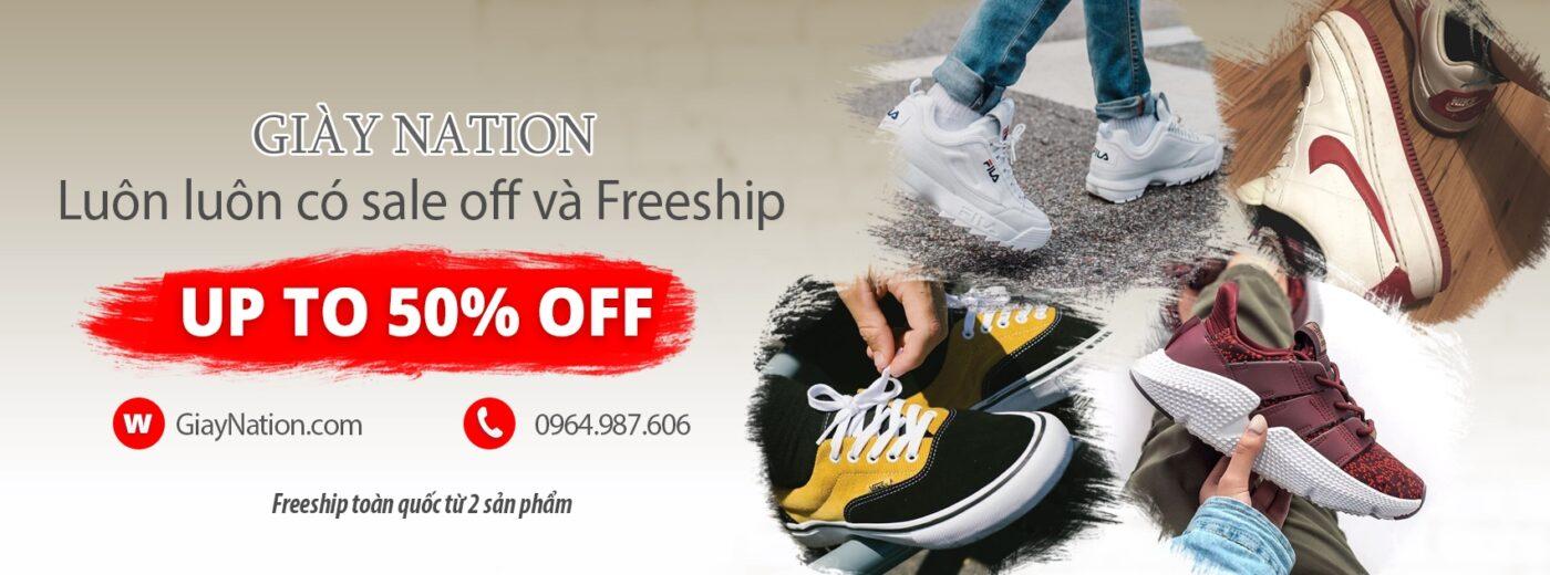 Giày Nation banner shop giày giá rẻ